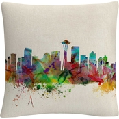 Trademark Fine Art Seattle Washington Decorative Throw Pillow