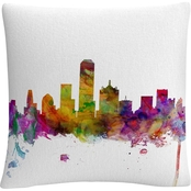 Trademark Fine Art Dallas Texas Skyline Decorative Throw Pillow