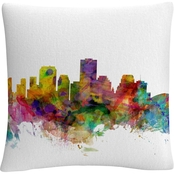 Trademark Fine Art Michael Tompsett New Orleans Louisiana Skyline Throw Pillow
