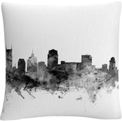 Trademark Fine Art Michael Tompsett Nashville, Tennessee Skyline Throw Pillow