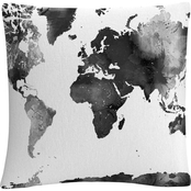Trademark Fine Art Marlene Watson World Map 16 x 16 in. Decorative Throw Pillow