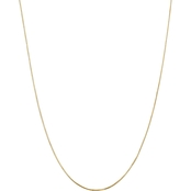 14K Yellow Gold 1.20mm Octagonal Snake Chain Necklace