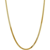 14K Yellow Gold 4.0mm Silky Herringbone Chain Necklace