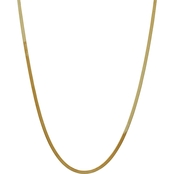 14K Yellow Gold 3.0mm Silky Herringbone Chain Necklace