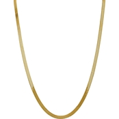 14K Yellow Gold 5.0mm Silky Herringbone Chain Necklace