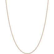 14k Rose Gold 1.65mm Solid Polished Spiga Chain Necklace