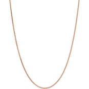 14k Rose Gold 2.0mm Solid Polished Spiga Chain Necklace