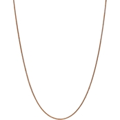 14K Rose Gold 1.4mm Spiga Chain Necklace