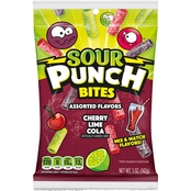 Sour Punch 5 oz. Cherry, Lime and Cola Bites Hanging Bag