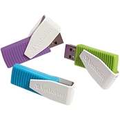 Verbatim 3 Pack 8GB Swivel USB Flash Drive