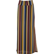 Passports Slit Maxi Stripe Skirt