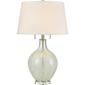 Dimond Lighting 29.5 in. Storms End 2-Light Table Lamp