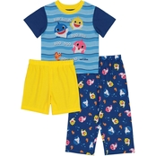 Baby Shark Toddler Boys 3 pc. Pajama Set