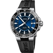 Oris Aquis GMT Date Men's Diver's Watch Rubber Strap 79877544135RS