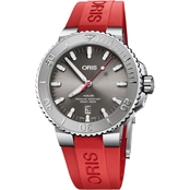 Oris Aquis Date Relief Men's Diver Watch Rubber Strap 73377304153RS