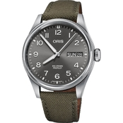 Oris Pro Pilot Day Date 44 Polished Textile 75277604063TX