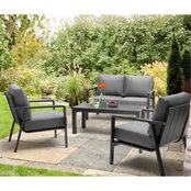 Kettler Paros Lounge Set with Cast Slate Cushions