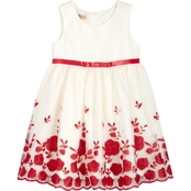Purple Rose Girls Embroidery Dress