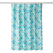 Saturday Knight LTD Ocean Watercolor Scales Shower Curtain, Multi