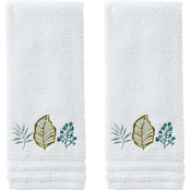 Saturday Knight LTD Sprouted Palm Hand Towel 2 pc. Set, White