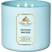 Bath & Body Works White Barn Rainbow Crystal Waters 3 Wick Candle