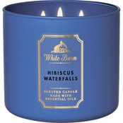 Bath & Body Works White Barn Rainbow Hibiscus Waterfalls 3 Wick Candle
