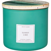 Bath & Body Works White Barn Sunny Lime Ceramic 3 Wick Candle