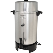 West Bend 100 Cup Polished Aluminum Commercial Grade Coffee Urn