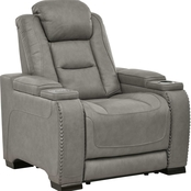 Signature Design by Ashley The Man Den Power Recliner with Adjustable Headrest