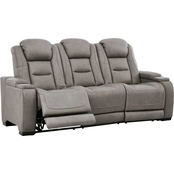 Signature Design by Ashley The Man Den Power Reclining Sofa with Power Headrest