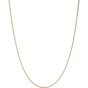 14K Rose Gold 1.1mm Box Link Chain Necklace