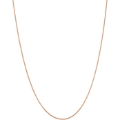 14K Rose Gold 1.65mm Solid Diamond Cut Cable Chain Necklace