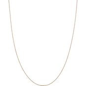 14K Rose Gold 1.0mm Diamond Cut Cable Chain Necklace