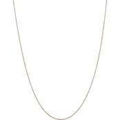 14K Rose Gold .8mm Diamond Cut Cable Chain Necklace