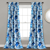 Lush Decor Poppy Garden Room Darkening Window Curtain Panels 2 pc. Set
