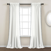 Lush Decor Pom Pom Window Curtain Panels 2 pc. Set