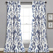Lush Decor Devonia Allover Room Darkening Window Curtain 52x84 in. 2 pc. set