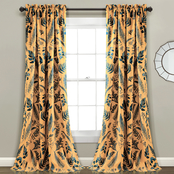 Lush Decor Devonia Allover Room Darkening Window Curtain Panels 2 pc. Set