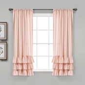 Lush Decor Allison Ruffle Window Curtain Panels 40x95 in. 2 pc. Set