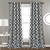 Lush Decor Edward Trellis Room Darkening Window Curtain Panels 2 pc. Set