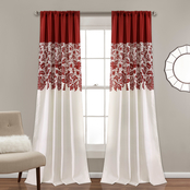 Lush Decor Estate Garden Print Room Darkening Window Curtain Panels 2 pc. Set