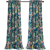 Lush Decor Dolores Room Darkening Window Curtain Panels, 52 x 84