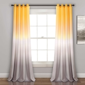 Lush Decor Umbre Fiesta Room Darkening Curtain Panel 2 pk.
