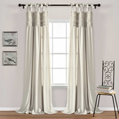 Lush Decor Lydia Ruffle Window Curtain Panels 40 X 95 in. 2 pc. Set