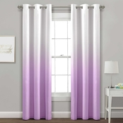 Lush Decor Mia Ombre Insulated Grommet Blackout Window Curtain Panel 2 pk.