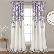 Lush Decor Tanisha Room Darkening Window Curtain 52x95 in. 2 pc. Set