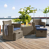 Kettler Cupido Set with Cast Ash Cushions