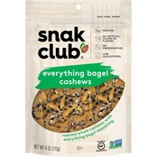 Snak Club Everything Bagel Cashews 4 oz.
