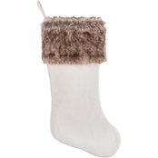 Gigi Seasons Velvet Stocking with Faux Fur Cuff