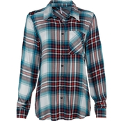 JW Long Sleeve Plaid Button Front